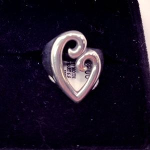 "925 Silver James Avery ""Mother's Love"" Heart Ring"
